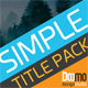 Simple Title Pack - VideoHive Item for Sale