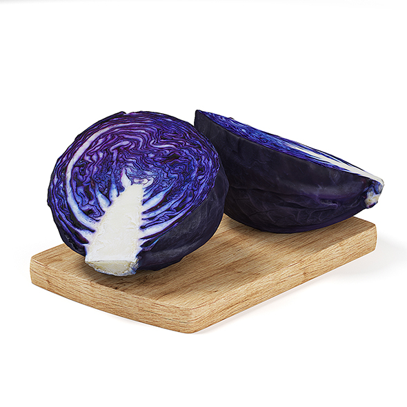 Sliced Red Cabbage - 3DOcean Item for Sale