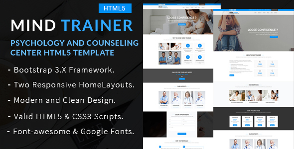 Mind Trainer - Psychology and Counseling Center HTML5 Template - Health & Beauty Retail