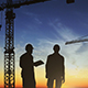 Construction Site Silhouette with Cranes And Workers (2-Pack) - VideoHive Item for Sale