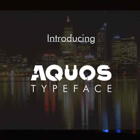 Aquos Typeface - Futuristic Decorative
