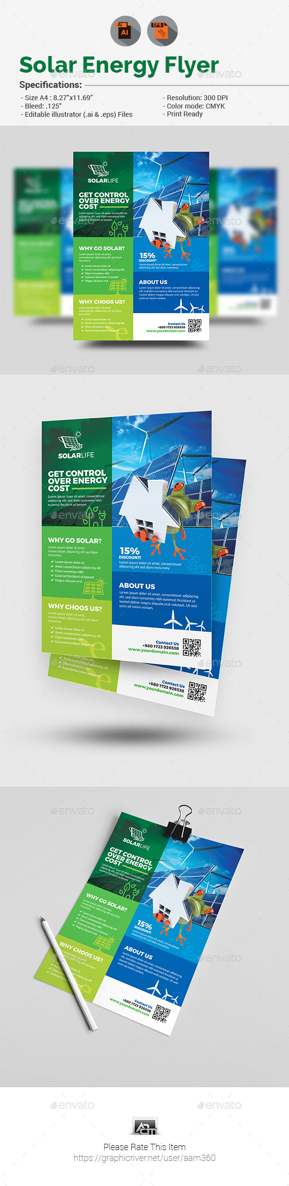 Solar Energy Flyer V2 - Flyers Print Templates