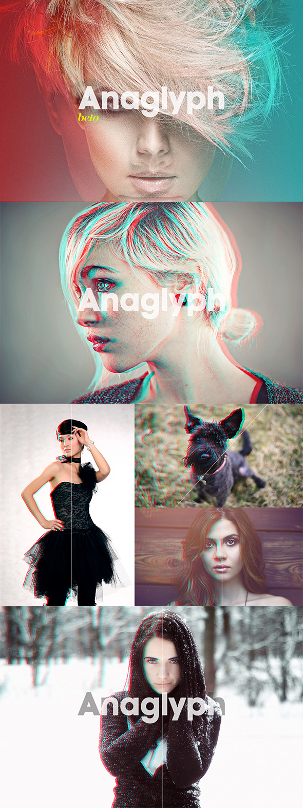 Anaglyph 3D Action - Photo Effects Actions