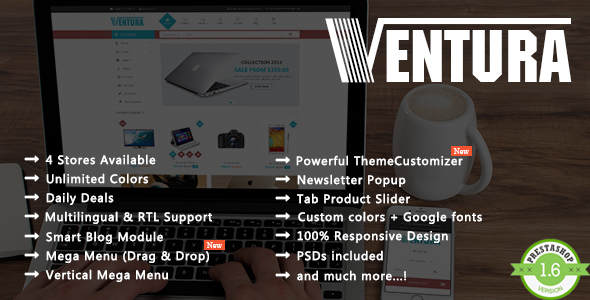 Ventura – Shopping Digital, Electronics Responsive Prestashop Theme