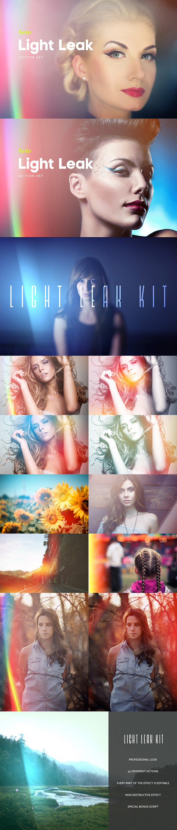 Light Leak Kit - Photo Effects Actions