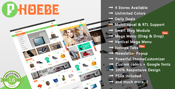 Phoebe – Shopping Cosmetic, Jewelry Responsive Prestashop Theme