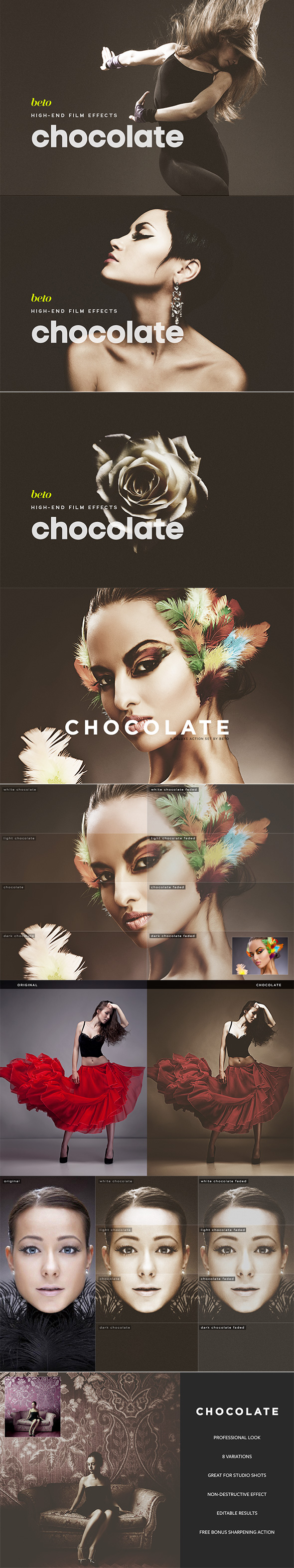 Chocolate Action - Photo Effects Actions