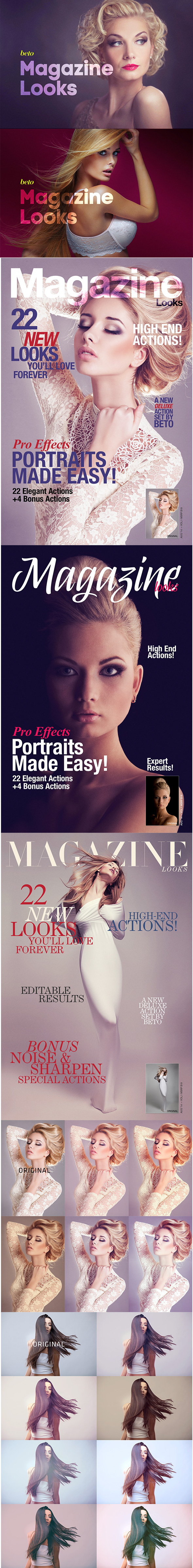 Magazine Looks Collection - Photo Effects Actions
