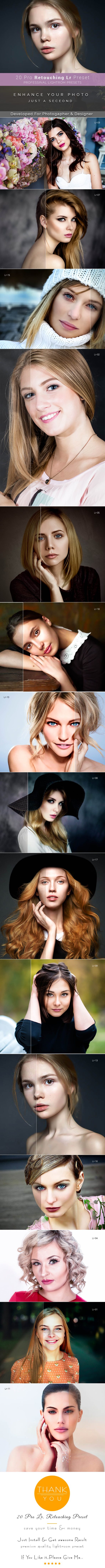 20 Pro Retouching Preset - Lightroom Presets Add-ons