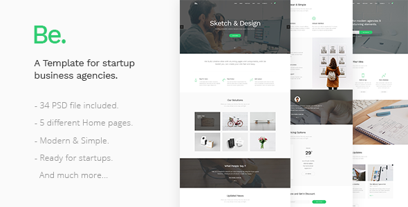 Be - Startup Business Template - Business Corporate