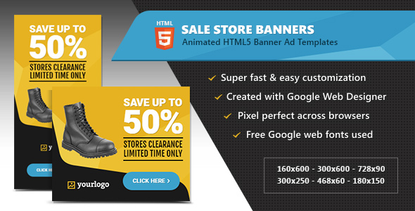 HTML5 Ads - Store Sale Discount Promotion Banners - CodeCanyon Item for Sale