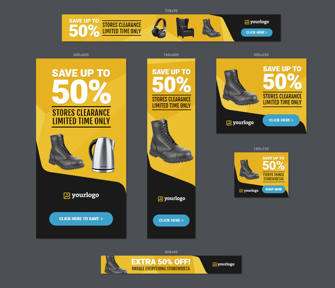Html5 Ads Store Sale Discount Promotion Banners By