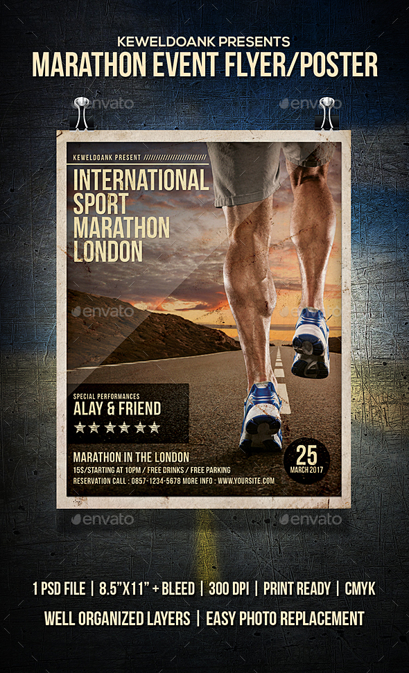Marathon Event Flyer / Poster - Sports Events