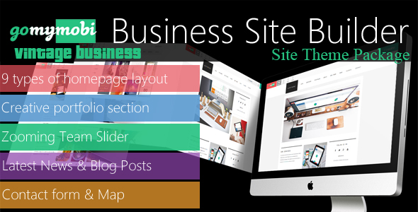 gomymobiBSB's Site Theme: Vintage Business - CodeCanyon Item for Sale