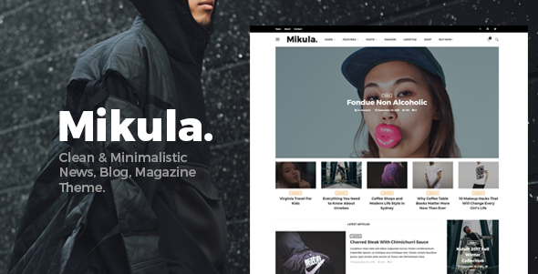 Mikula – Blog and Magazine WordPress theme