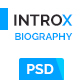 IntroX One Page Biography Psd Template