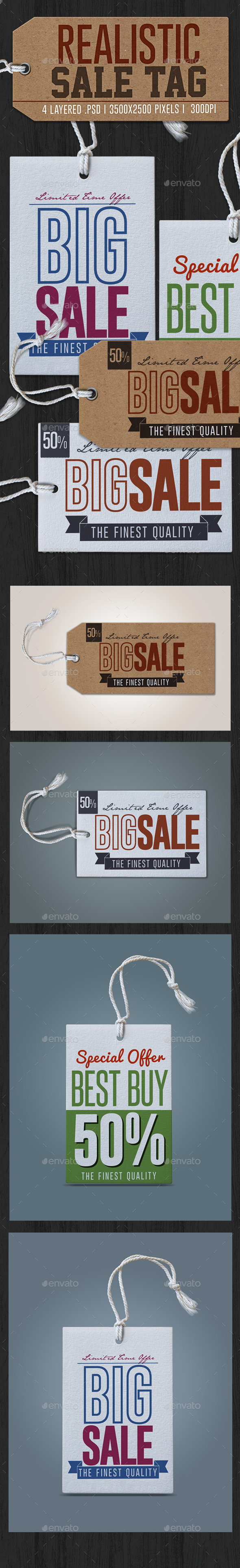 Realistic Sale Tag - Badges & Stickers Web Elements