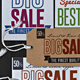Realistic Sale Tag