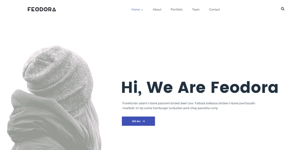 Fedora Creative HTML5 Template