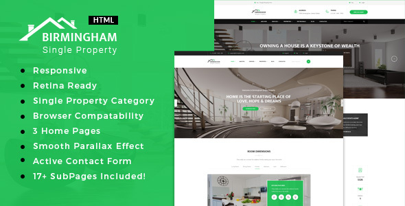 Brimingham | Real Estate Single Property HTML5 Template - Business Corporate
