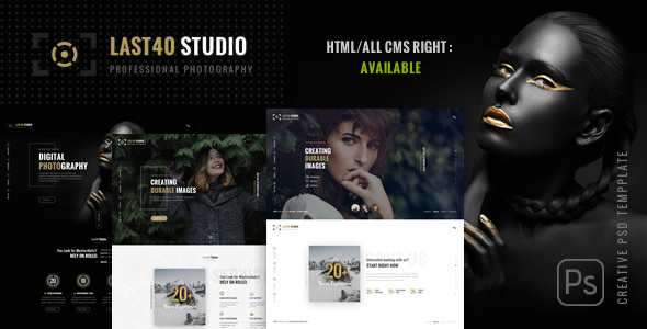 Last40 Studio – Creative PSD Template