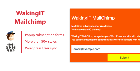 WakingIT Mailchimp Newsletter Wordpress Plugin - CodeCanyon Item for Sale