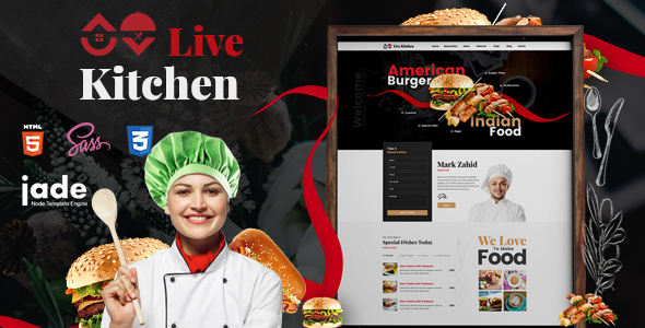 LiveKitchen - HTML5 Restaurant Template - Restaurants & Cafes Entertainment
