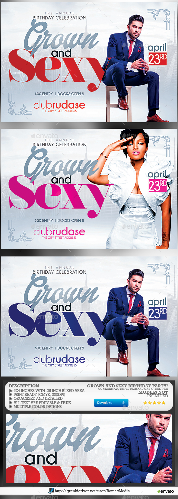 Grown n' Sexy Birthday Party - Clubs & Parties Events