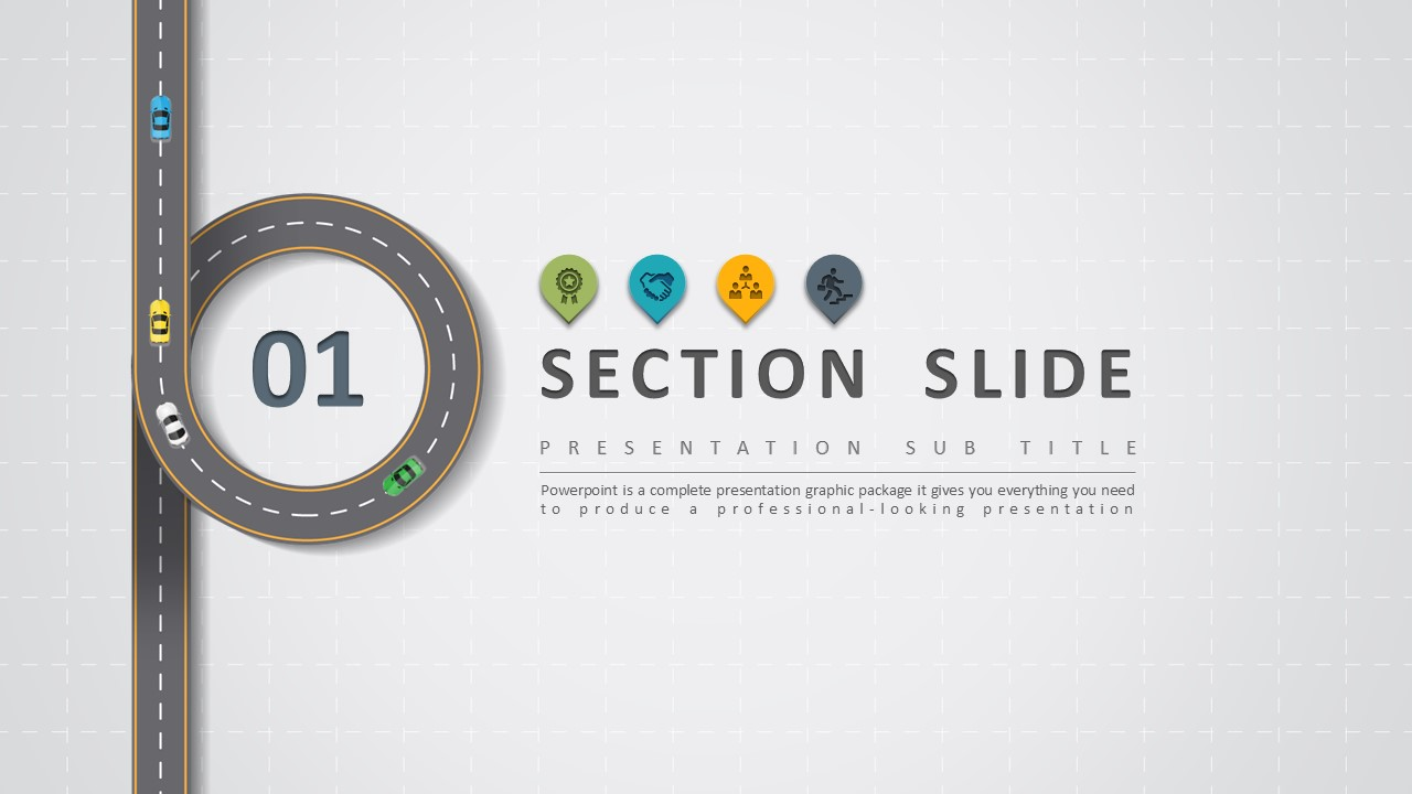 Road powerpoint template by pello1103 graphicriver road powerpoint template section slide wide toneelgroepblik Choice Image
