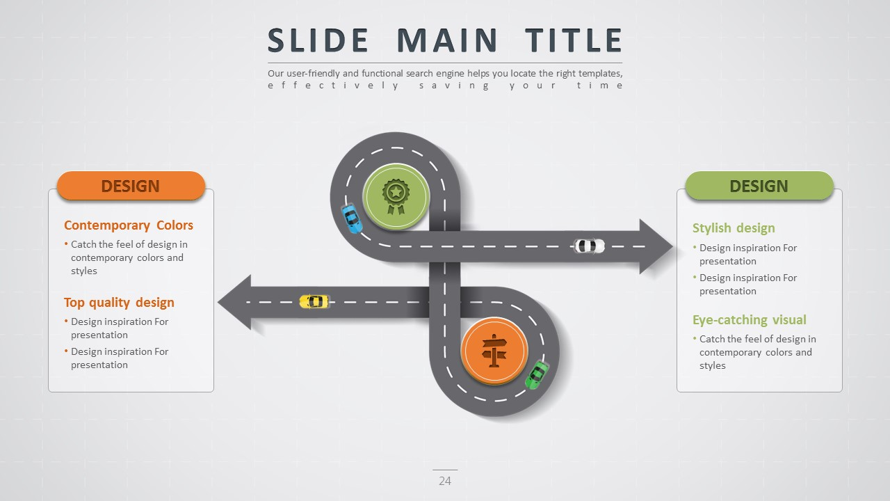 Road powerpoint template by pello1103 graphicriver road powerpoint template crossing diagram wide toneelgroepblik Choice Image