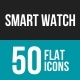 Smart Watch Flat Multicolor Icons