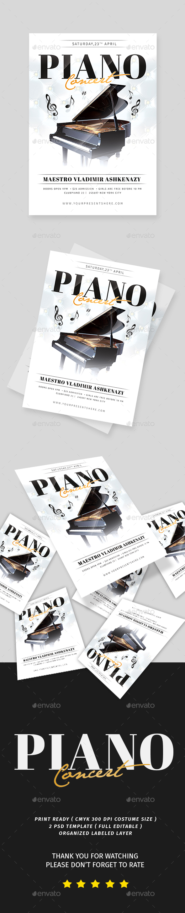 Piano Concert Flyer - Events Flyers