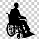 Man On Wheelchair Silhouette - VideoHive Item for Sale