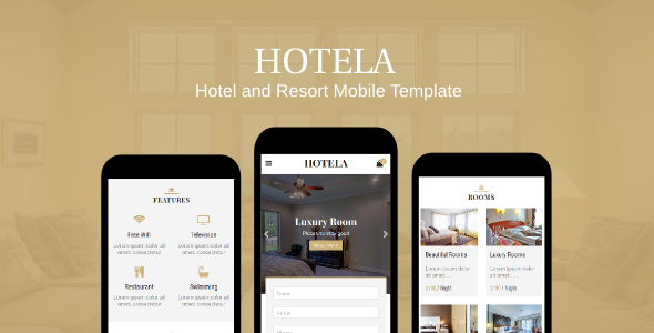 Hotela - Hotel and Resort Mobile Template - Mobile Site Templates