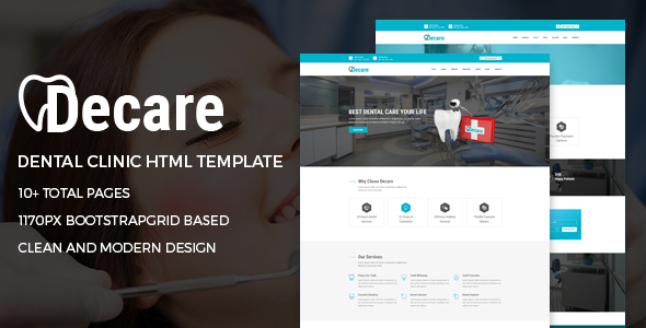 Decare - Dental Clinic HTML Template