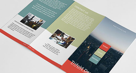 Creative trifold brochure