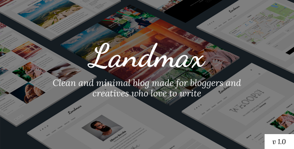 Landmax WP – Minimal Blog Theme