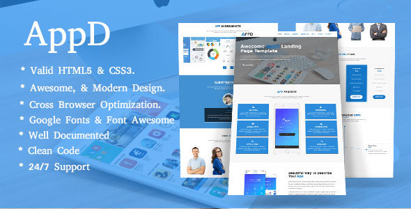 AppD-Apps Landing Responsive Template