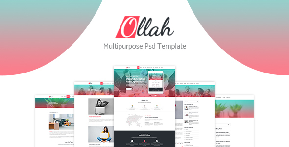 Ollah Multipurpose PSD Template
