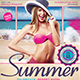 Summer Beach Flyer Template V2 - GraphicRiver Item for Sale