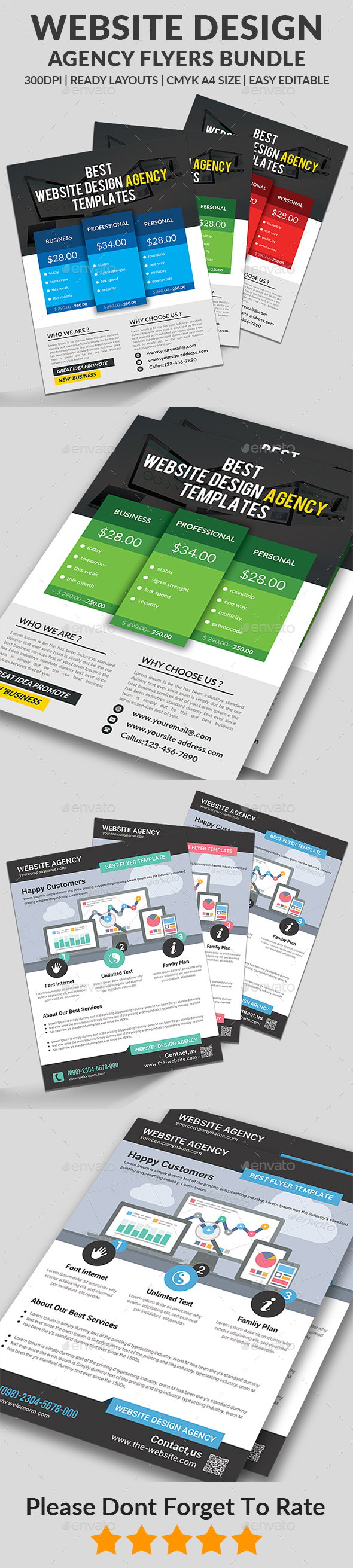 Website Design Agency Flyers Bundle - Corporate Flyers