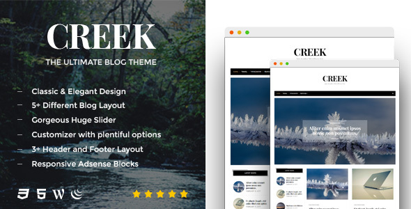 Creek – A Responsive WordPress Blog Theme