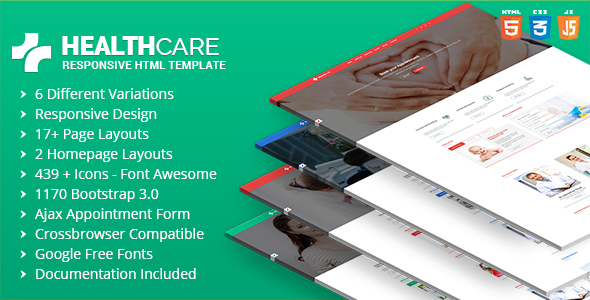 Health Care - Doctor Hospital Clinic Medical Responsive Website Template - Health & Beauty Retail