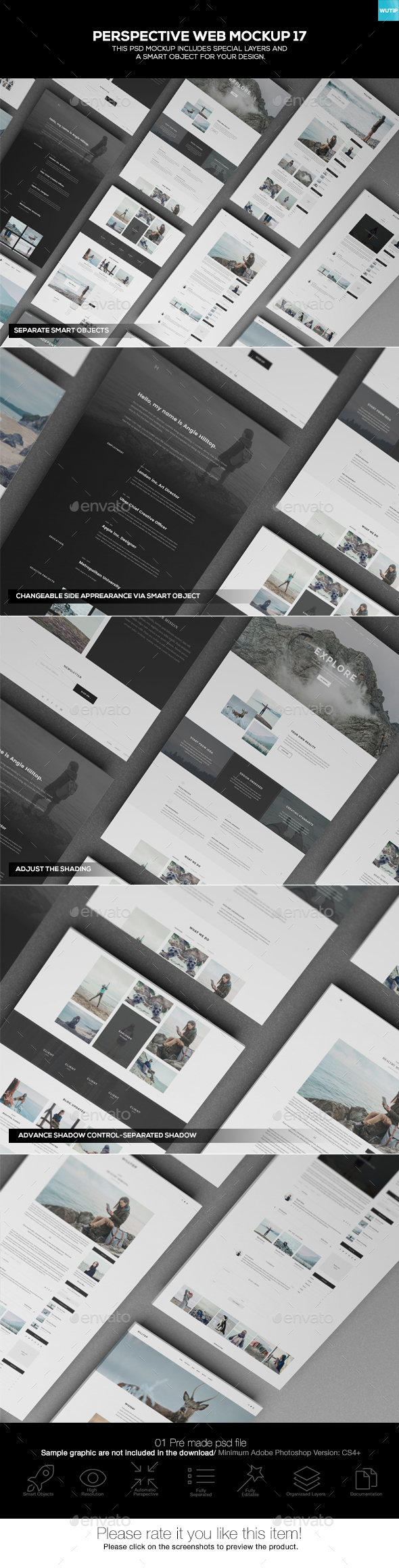 Perspective Web Mockup 17 - Website Displays