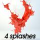 4 splashes - 3DOcean Item for Sale
