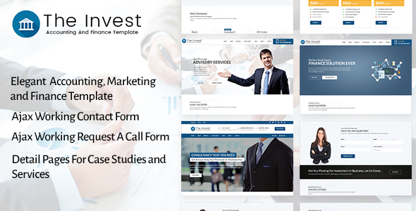 The Invest – Accounting, Finance, Consulting, Business and Marketing Template