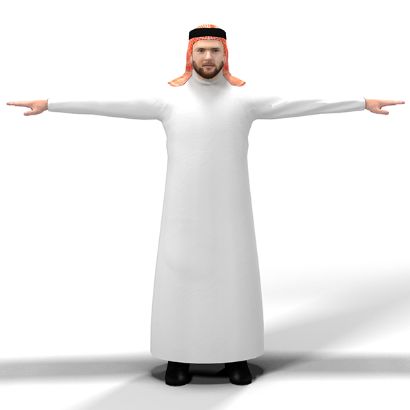Arab Man - 3DOcean Item for Sale