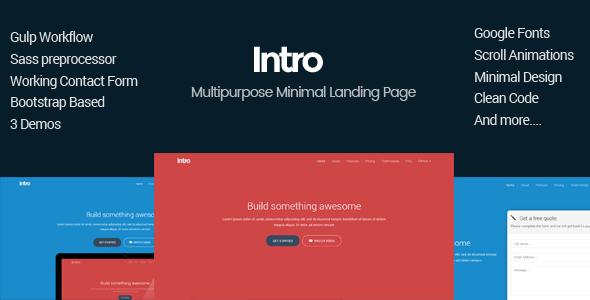 Intro – Minimal Multipurpose Landing Page