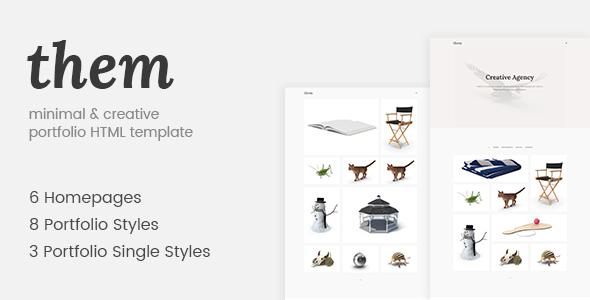 Them - Minimal and Creative Portfolio HTML Template