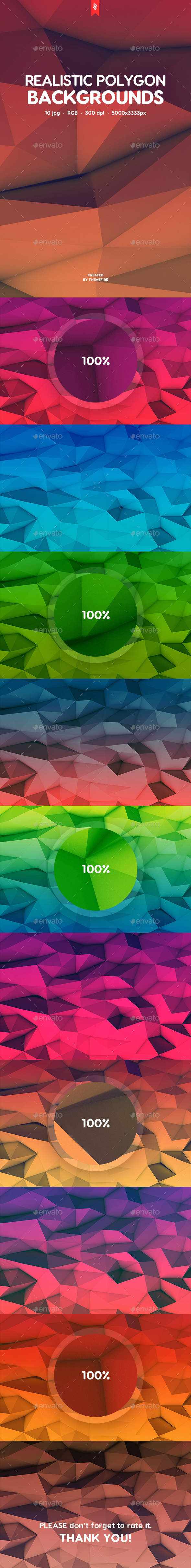 Realistic Polygon Backgrounds - Abstract Backgrounds